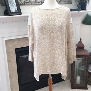 Chico's Cream With Lace Top